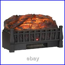 1500W Electric Remote Insert Log Fireplace Space Heater 3D Flame Stove