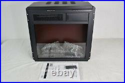 18 Electric Fireplace Insert Freestanding and Recessed Heater with Remote