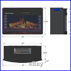 26 Freestanding Heat Electric Fireplace Heater Temperature Control withRemote