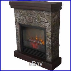 26 Polyfiber Electric Fireplace, Tan