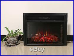 28 1500W Insert Glowing Heater Logs Electric Flame Firebox Fireplace Remote