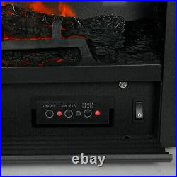28.5 Embedded Electric Fireplace Insert Heater Remote Realistic wood log Glow