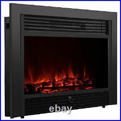 28.5 Embedded Fireplace Electric Insert Heater Glass View Log Flame Remote Home