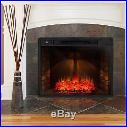 33 in. Electric Fireplace Insert Heater Remote Control Freestanding Heating Trim