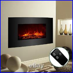33x22 Large 1500W Electric Fireplace Wall Mount Heater with Remote Adjustable