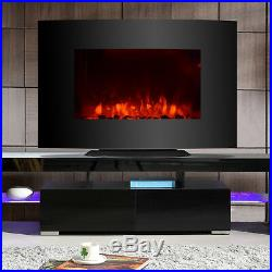 35x22 Large 1500W Electric Fireplace Wall Mount & Free Standing Heater with RC