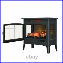 3D Infrared Quartz Electric Stove Fireplace Flame Effect Heater Adjustable Home