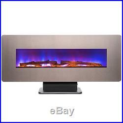 3-n-1 48 Freestanding Wall Mount Electric Fireplace Interchangeable 3D Flames