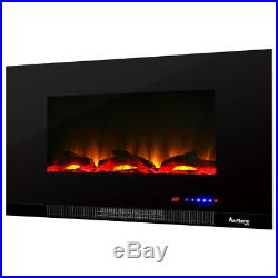 42 Ultra-slim LED Wall-mount Electric Fireplace With 9 Color Ambiance Options