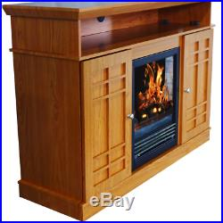 48 Electric Fireplace Flame TV Stand Entertainment Media Storage Drawers New
