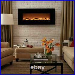 50 Electric Fireplace Touchstone Onyx 800001 Logs Crystal Wall Mount NEW in BOX