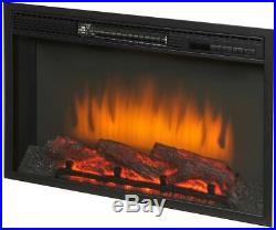 59 in. Freestanding Infrared Electric Fireplace TV Stand Aged White Heater