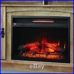 60 In TV Stand Infrared Electric Fireplace Media Entertainment Center Cabinet