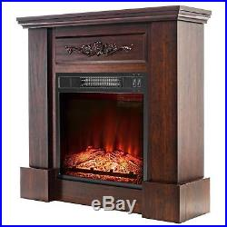 AKDY FP0089 32 Electric Fireplace Insert Brown Wooden ...