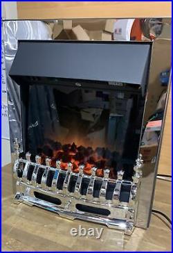 Adam Blenheim Electric Fire in Chrome 2kW 2010