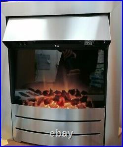 Adam Colorado Modern Electric Fire Brushed Steel Fan Heater upto 2Kw