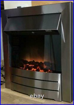 Adam Devon Cream Electric Fire suite 100cm x 22.5cm. Height 92cm 1449