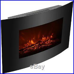 Adjustable XL Large 1500W Electric Fireplace Wall Mount Heater Remote /w35x22