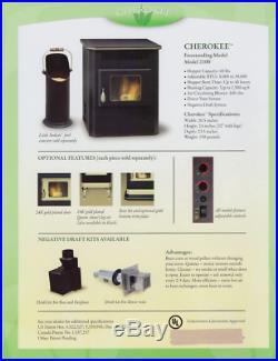 Amaizablaze Corn Pellet Burning Stove Fireplace 30K BTUs With Direct Vent Kit