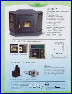 Amaizablaze Corn Pellet Burning Stove Fireplace 50K BTUs With Direct Vent