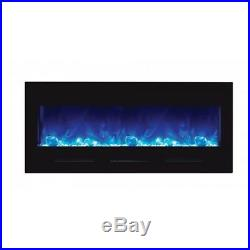Amantii 50 Contemporary Electric Fireplace Wall Mount or Built-in