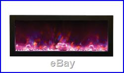 Amantii BI-60-Deep Panorama Series Built In Linear Electric Fireplace Fire & Ice
