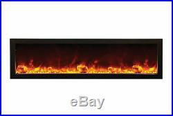 Amantii BI-88-SLIM, 88 Panorama Series Built In Linear Electric Fireplace DEALS