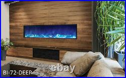Amantii Bi-72-Deep Panorama Series Linear Electric Fireplace Built In with Heat