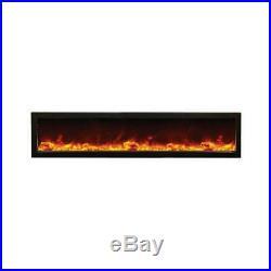 Amantii Indoor Panorama Series Slim Electric Fireplace, 72