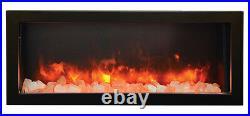 Amantii Panorama Series 50 Deep Indoor or Outdoor Electric Fireplace BI-50-DEEP