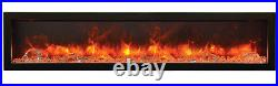 Amantii Panorama Series 60 3 Sided Electric Fireplace 60-TRU-VIEW-XL