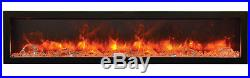 Amantii Panorama Series 72 3 Sided Electric Fireplace 72-TRU-VIEW-XL