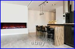 Amantii Tru View Serie 3 Sided 72 Wide Electric Fireplace 70.87 Power Cord