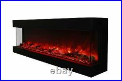 Amantii True-View Series Indoor/Outdoor Electric Fireplace, 60 Inch