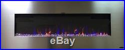 AudioFlare 50 electric fireplace, 3 colors, Bluetooth audio. Hang or recess
