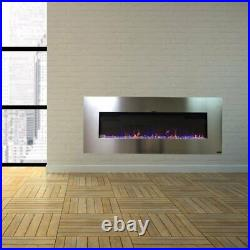 AudioFlare Stainless 50 Recessed Electric Fireplace