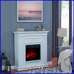BOLD FLAME Electric Fireplace 38 Inch Wall/Corner White LED Heater