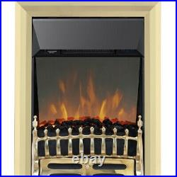 Blenheim Brass LED Reflections Electric Inset Fire BRAND NEW Missing Grill