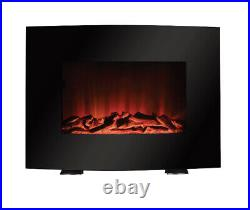 Brand New Mainstays 22 Freestanding or Wall Mounted Fireplace-Black