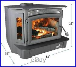 Breckwell SW940 Bay Front Wood Stove fireplace Insert 128K BTU Heat to 3200 sf