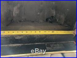 Buck Stove Wood Burning Stove Fireplace Insert Model 18 Pre-owned Gold & Black