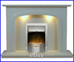Carlton Marble Fireplace Surround, 54 or 48 inch size with 2 KW Electric Fire