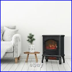 Chimney Free Infrared Quartz Electric Space Heater, Black warm up to 1,000 s/ft