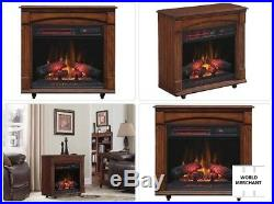Chimneyfree Chimney Free Electric Infrared Quartz Rolling Fireplace Space Heater