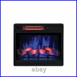 ClassicFlame 23 3D Infrared Quartz Electric Fireplace Black