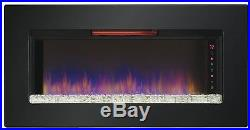 ClassicFlame 47 Wall Mounted Mantels Inserts Quartz Fireplace 47II100GRG New