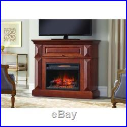 Coleridge 42 In Mantel Console Infrared Electric Fireplace Medium Cherry 36 In H