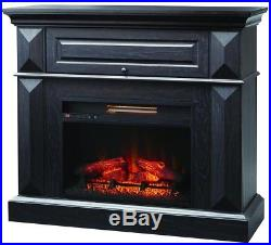 Coleridge 42 Mantel Console Infrared Electric Fireplace in Black in 36 H
