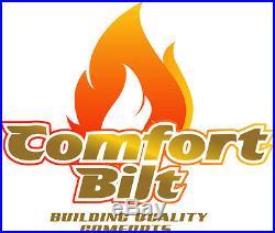 Comfortbilt HP22 Carbon Black Pellet Stove Fireplace 50000 btu withSS Door Trim
