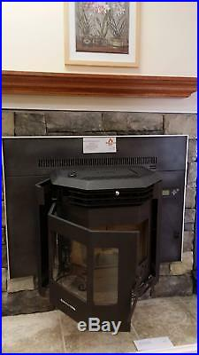 Comfortbilt Pellet Stove HP22i Fireplace Insert Carbon Black